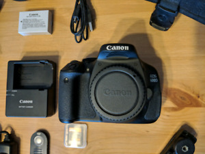 Canon 600D body only in great condition with Lowepro camera bag