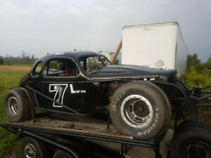 Vintage Race Car Ready For the Track