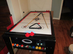Table de billard et air hockey