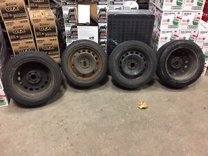 Winter tires with rims  205/55/16 from Audi A4  London Ontario image 1