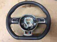 2013 Audi s line flat bottom steering wheel , A3, A4,A5, A6 etc