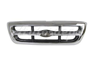 Ford Ranger Chrome Grille (For 1998-2000 Ford Ranger 2Wd 4Wd Grille Chrome/Silver Gray)