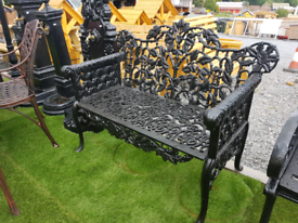 Cast iron garden benches different styles and sizes