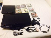 PS3 Slim, 1 controller, 7 games and TV