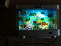 Living Aquarium,  mechanical, fish swim around, Love it