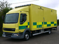 DAF TRUCKS FA LF45.150 AMBULANCE CARGO DELIVERY COURIER PALLET TRUCK LORRY VAN