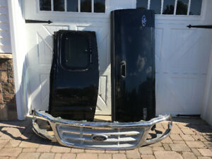 Ford F-150 truck doors, tailgate, grill