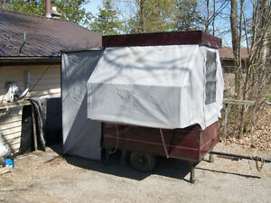 Small Tent Travel Box Trailer for Motorcycle or Small Car