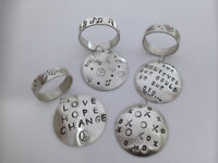 Stamped Ring & Pendant