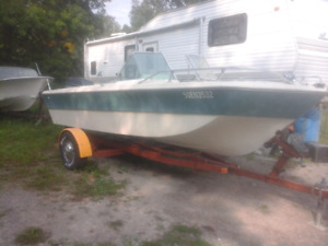 18 ft bow rider with  140 vro  evinrude and tilt trailer
