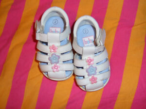 White Sandals( Baby Smart) -Size 2 Kitchener / Waterloo Kitchener Area image 1