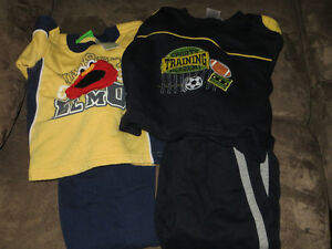 two 2-piece fleece sets boys size 24 months