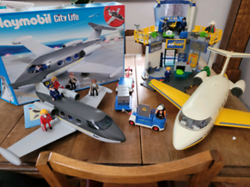 Playmobil Airport and two planes