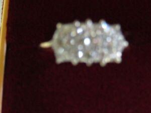 Gorgeous 3-In-Line Ladies Diamond Ring London Ontario image 1
