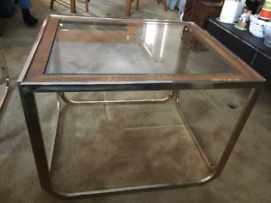 Vintage - Stunning 23 carat gold plated coffee table set