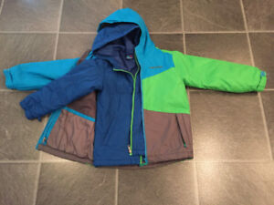 EUC fall-winter-spring jackets, snowpants, boots for boy 5 yo
