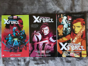 Uncanny X-Force Vol.1, 2 and 3 Complete Story Run.