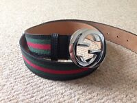 Original Gucci Signature Leather Web Belt