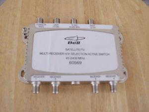 Bell multi-receiver H/V Selection active switch & power supply
