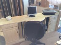 Desk with 2x cupboards