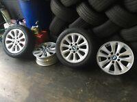 2005 bmw 1 series 4x alloys no tyres Cheap