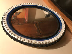 Mirror in shape of Bicycle Tire