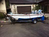 Boat on Hallmark 3 Trailer