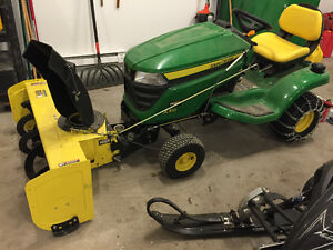 John Deere X310 Tractor with Snowblower and Mower