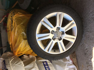 Audi snow tires and rims