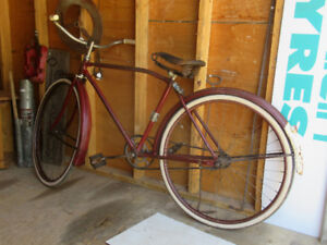 1940s balloon tire Sterling Bicycle barn find survivor
