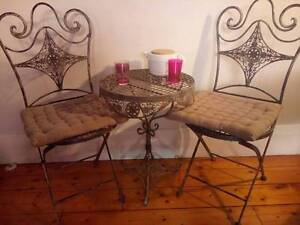 3 Piece Wrought Iron Coffee Table Set Balaclava Port Phillip Preview