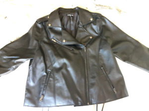 Brand new faux leather jacket size 1x
