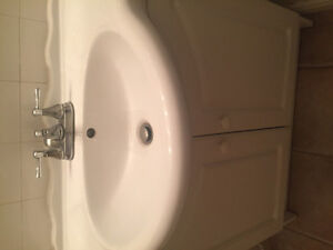 Perfect Condition White Sink + Cabinet