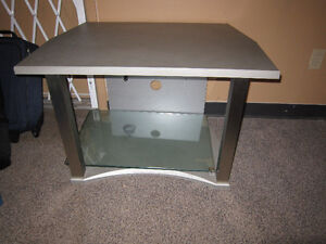 TV Stand With Glass Shelves For Sale