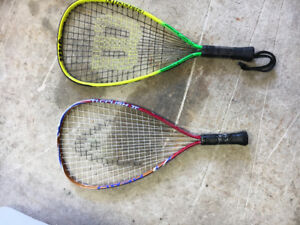 2 squash/racket ball rackets