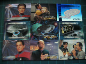 STAR TREK VOYAGER UNCUT PROMOTIONAL 9 CARD SHEET FROM SKYBOX