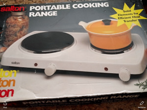Portable Salton cooking range