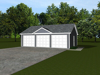 3-car garage plans 32x24 768 sf #1319