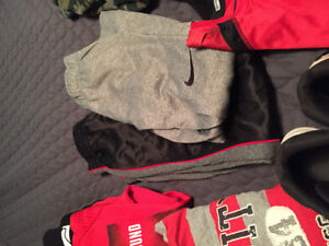 Boys clothes and Under Armour high tops
