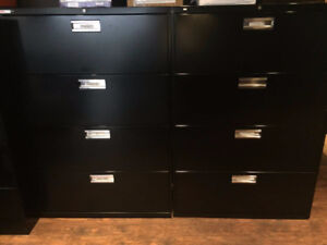 Black Lateral Filing Cabinet
