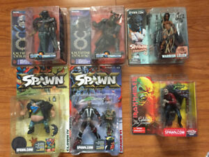 Misc Collectible Items. WWE, Spawn, Ultima, Olympic Bobbles