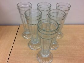 Six Knickerbocker Glory Glasses Excellent Condition