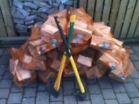 Logs/firewood for sale.