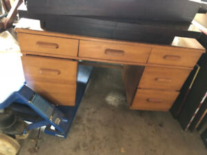 Solid Wood Desk - Vintage