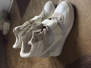 Wedge heel sneakers size 10
