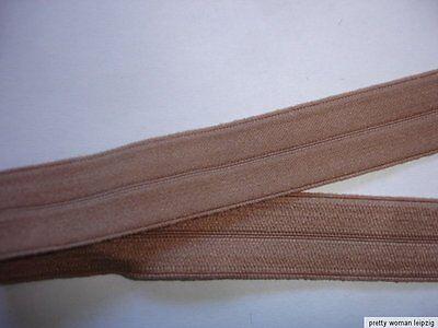 10m Gummiband 0,26€/m hellbraun mit Knickkante 15mm breit  EE1