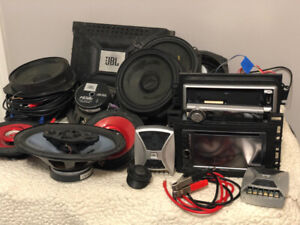 Lot of Car Audio Speakers, Amplifiers, Cables etc.