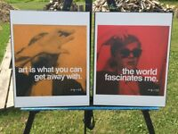 Two Andy Warhol Prints, Plaqued