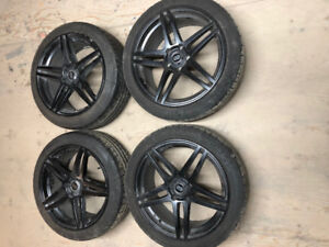 18 inch matt black mags and tires 225/45/18