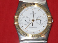 OMEGA CONSTALATION EN STAINLESS.S et or 18k tow ton &&